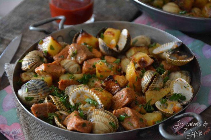 Carne alentejana porc aux coques de l 39 alentejo les for Cuisine portugaise