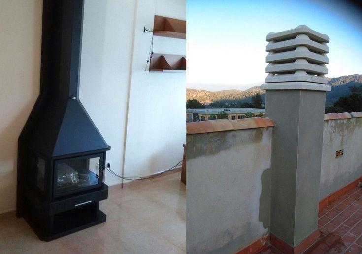 17 best images about chimeneas on pinterest vaulted - Tubo de chimenea ...