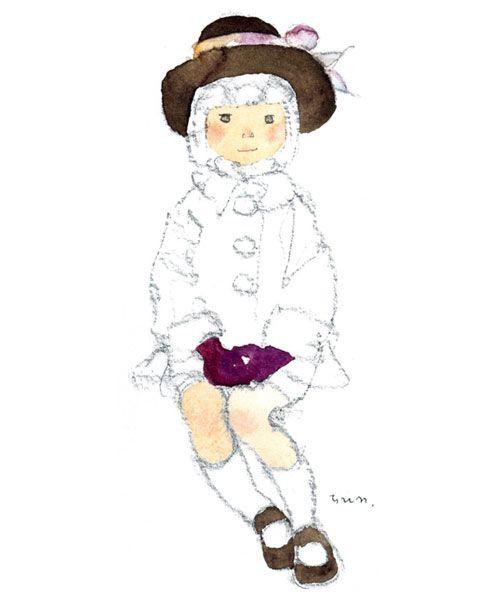 こげ茶色の帽子の少女