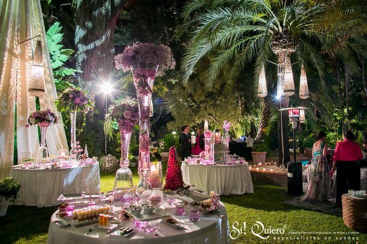 buffet de postres en boda