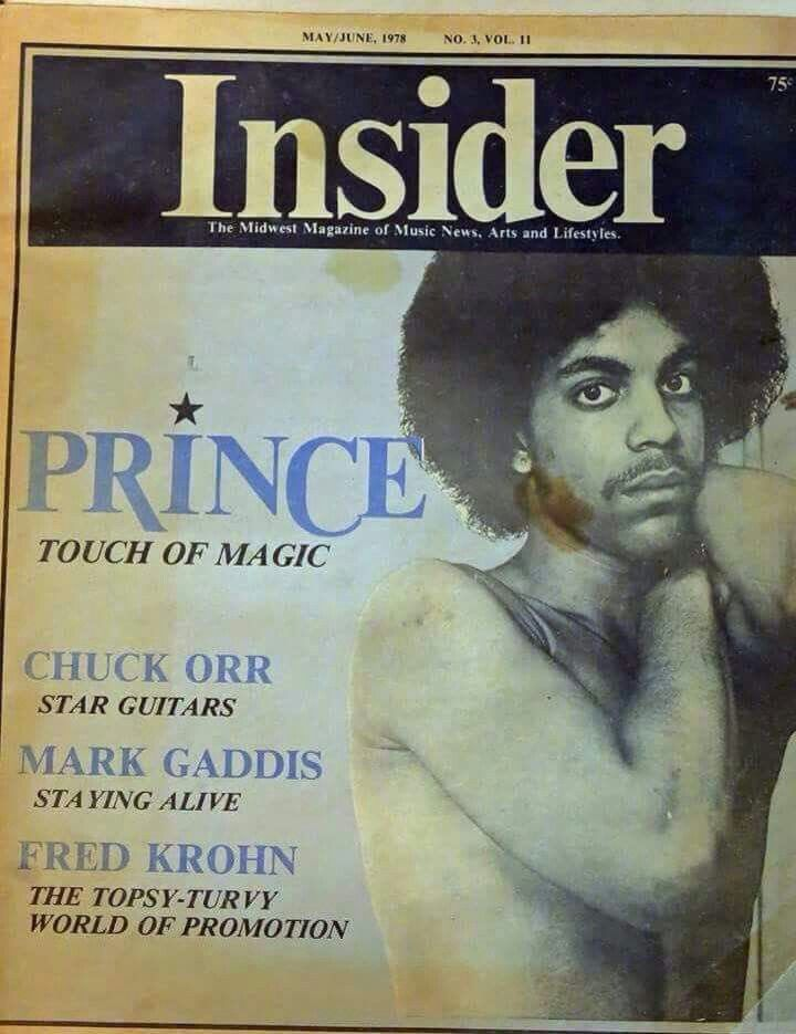 Prince's first ever cover feature - for Insider 6 Magazine in 1978. Published one month after the release of 'For You'.