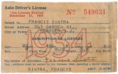 SINATRA DRIVER LICENSE
