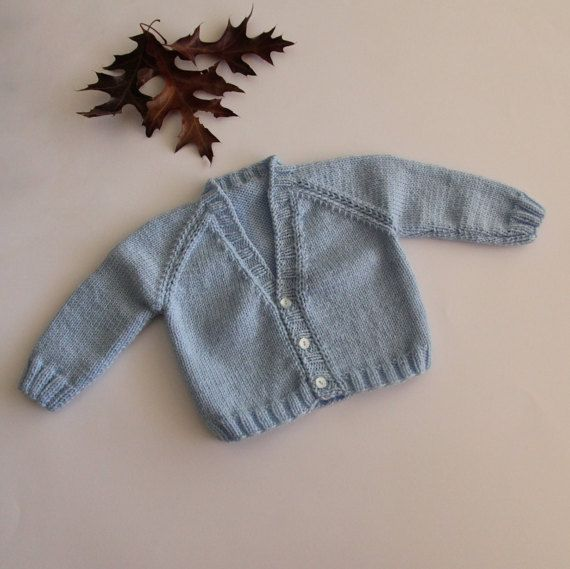 Baby boy coat hand-knitted baby coat baby coat by ProjectKnitting