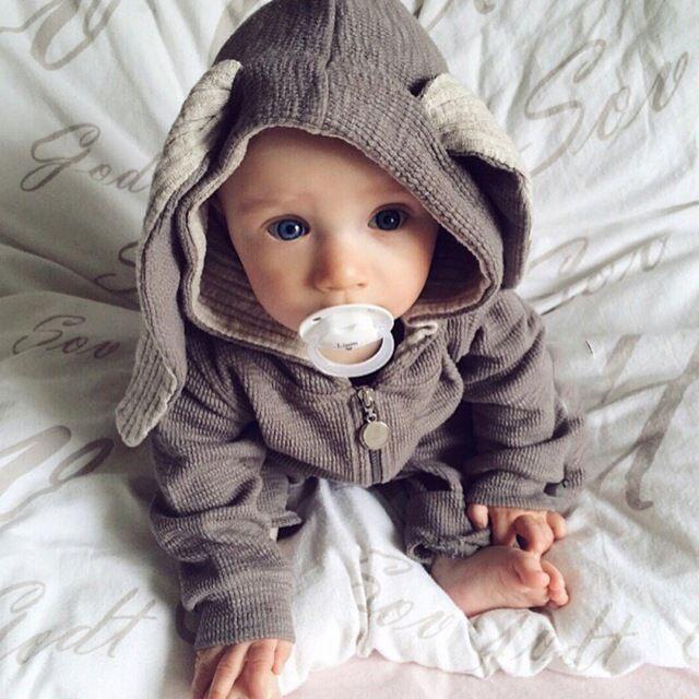 Little Noah in his bunny suit... melting Stan's heart...