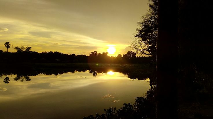 Sunset of Tonle Bati  #Cambodia #TonleBati #trip #BIGUPCREW #bigupinc.net #Hiroming