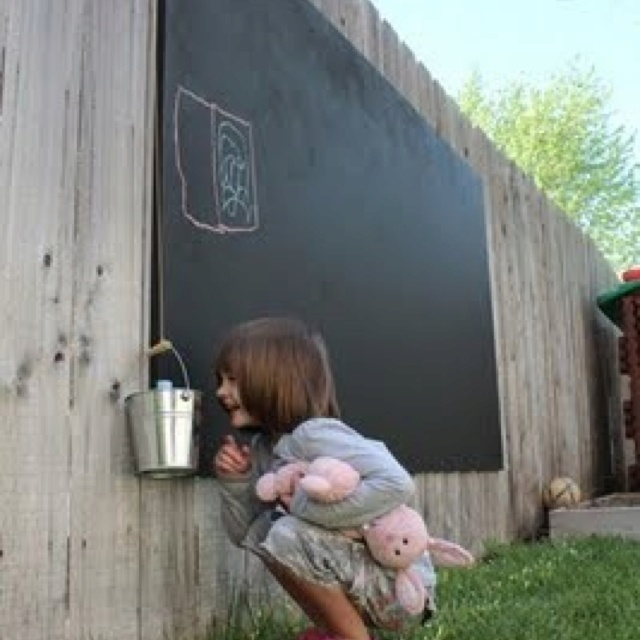 Chalk board outside --- Lord, why didn't I think of this before?