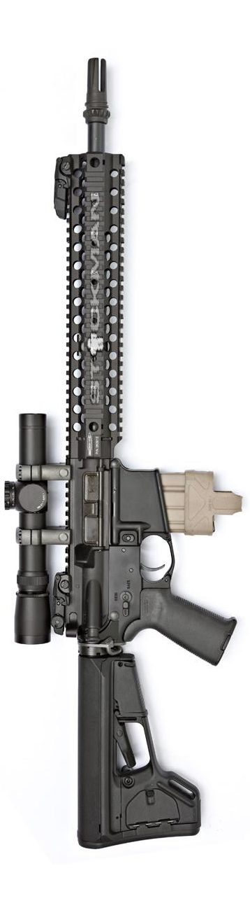 Centurion Arms' .300 Blackout upper with Leupold Mark4 1.5-5x20mm MR/T Blackout scope.