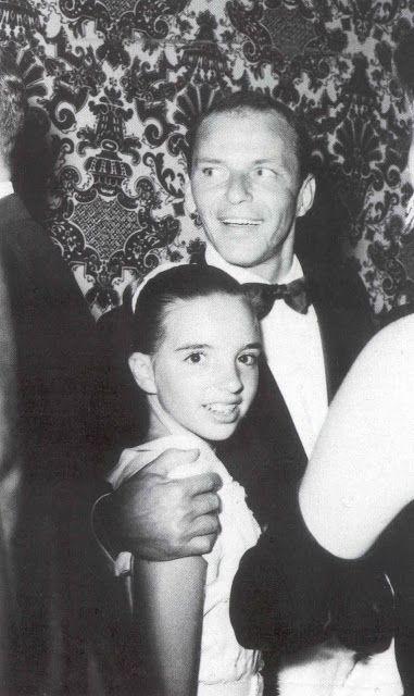 Frank Sinatra with Liza Minnelli at The Cocoanut Grove, 1959.
