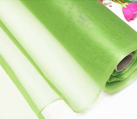 Organza soie Kiwi tissu matériel de soie naturelle (yza11015 X mètres)