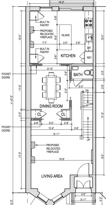 Opinions on parlor floor layout brownstoner floor for Brownstone building plans