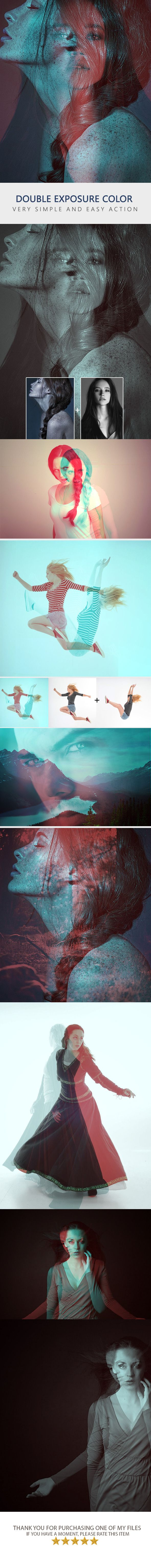 Double Color Exposure - Photo Effects Actions