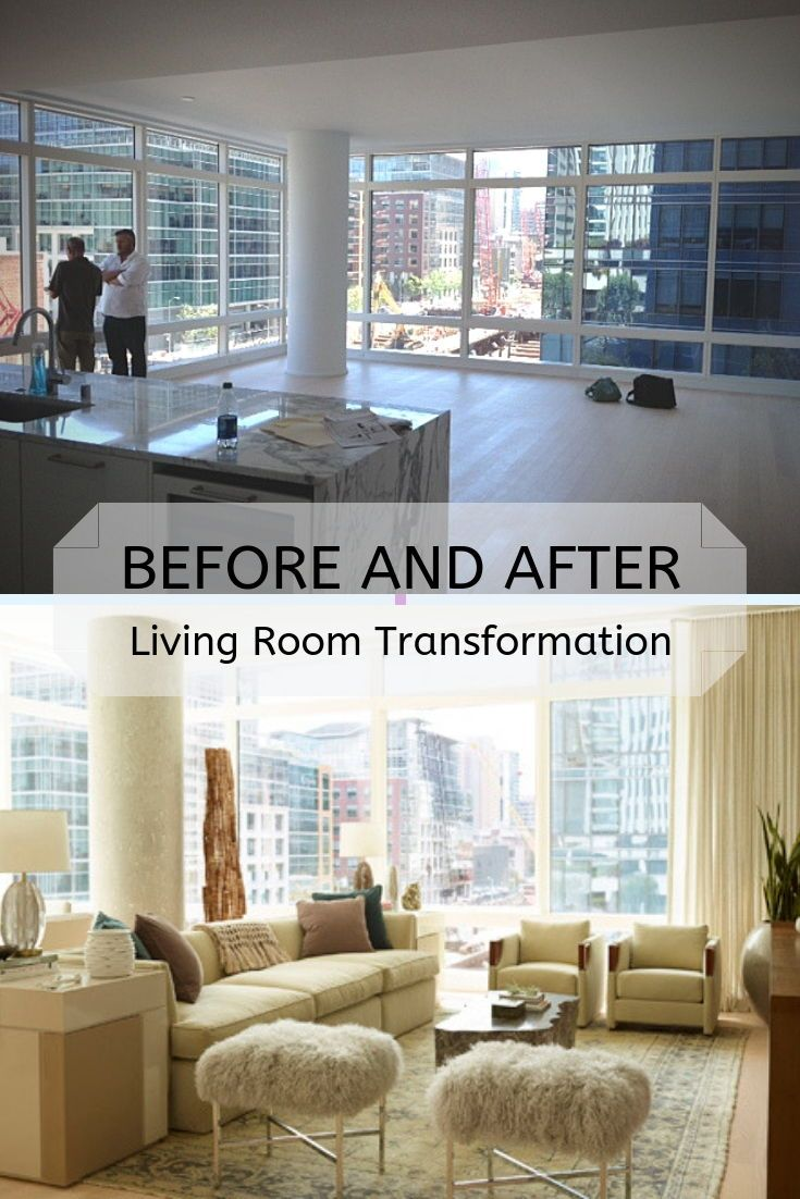 Luxury Living Room Before And After Design By Celebrity Interior