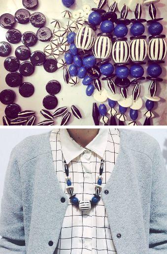 Moon pieces, Moon necklace.