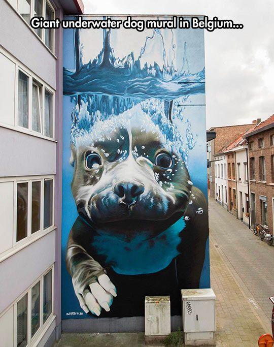 Amazing Mural In Belgium