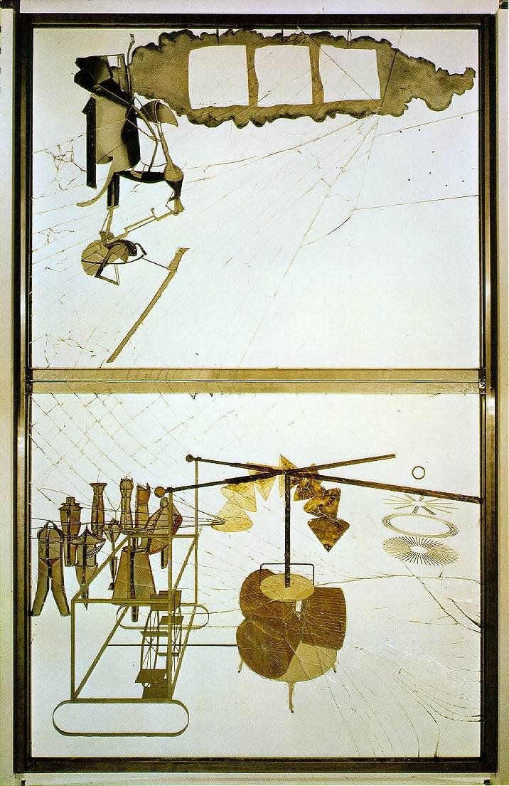The Bride Stripped Bare By Her Suitors, Even - Marcel Duchamp