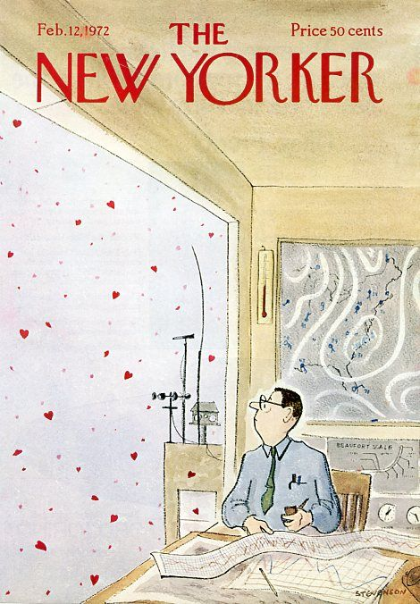 James Stevenson   Cover art for The New Yorker  12 February 1972