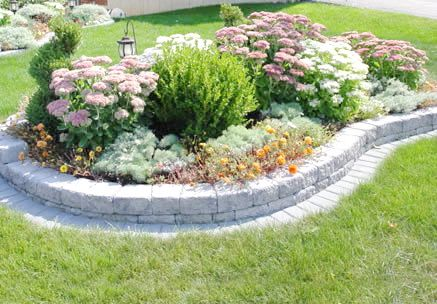Brick flower bed designs pictures woodworking projects for Flower bed designs