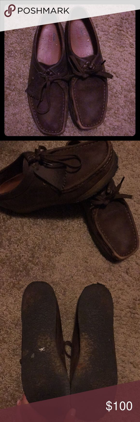 Beeswax Clark's Wallabees Brown Beeswax Wallabees. In good condition. Worn a lot but taken well care of! Clarks Shoes Ankle Boots & Booties
