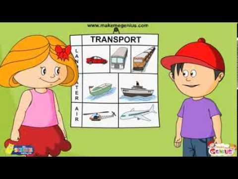 Transport -Modes & Means...animation video for kids