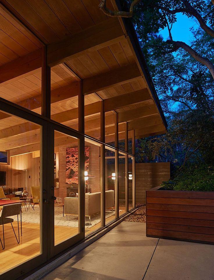 Attraktiv Haus, Ideen Für, Moderne Häuser, Oxfords, Mitte Des Jahrhunderts,  Architekten, Äußere, Wand Von Fenstern, Holzdecken