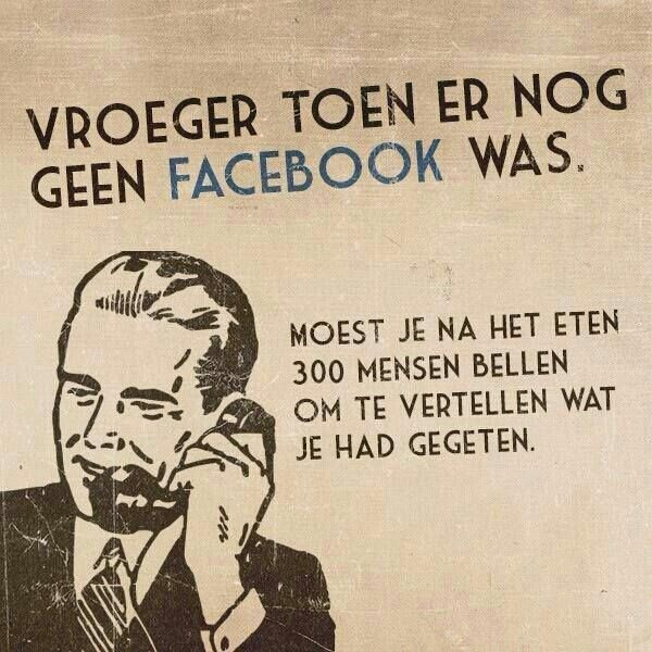 #vroeger #facebook