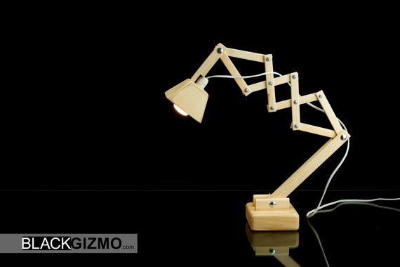 Wooden Table lamp DL011 by blackgizmo on Etsy, €69.00
