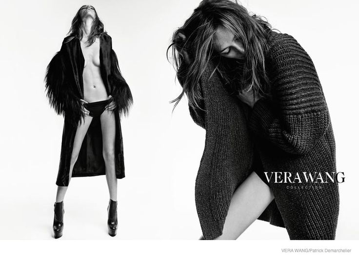 Photographed by Patrick Demarchelier. Josephine Le Tutour in Oversized Outerwear for Vera Wang Fall 2014 Campaign