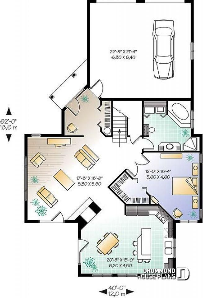 Discover The Plan 2603 Journey S Edge Which Will Please You For Its 3 4 Bedrooms And For Its Cottage Chalet Cabin Styles House Plans House Floor Plans Bedroom Floor Plans