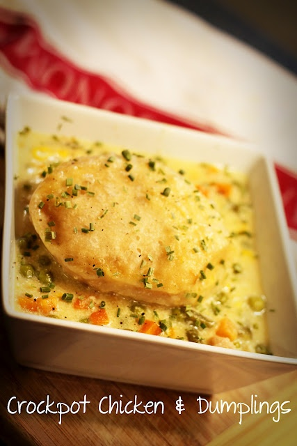 baked in the south: crockpot recipes CHICKEN AND DUMPLINGS