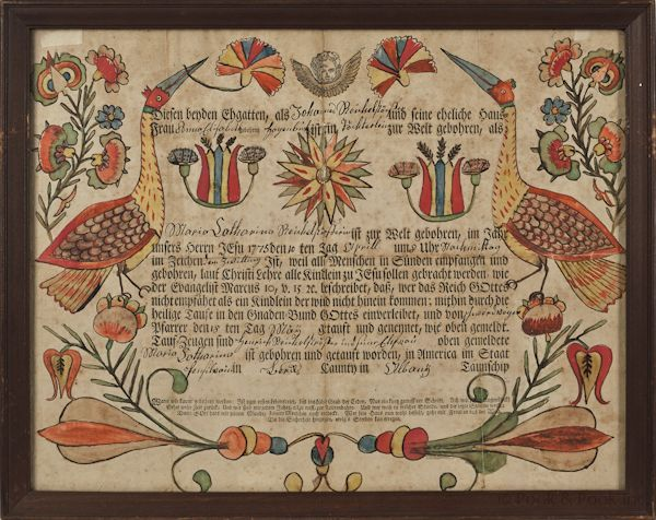 +fractur quilt   Georg Frederich Speyer (Southeastern Pennsylvania, active 1774-1801 ...