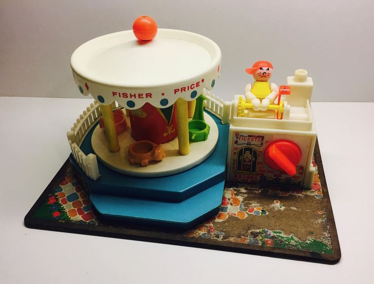 Vintage Fisher Price Carousel - Fisher Price Vintage Toys by vintagetoolbox on Etsy