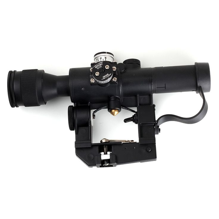 WIPSON Aim Optic Sight Tactical Rifle scopes Red Illuminated 4x24 PSO-1 Type Scope for Dragonov SVD Sniper AK Series Riflescope