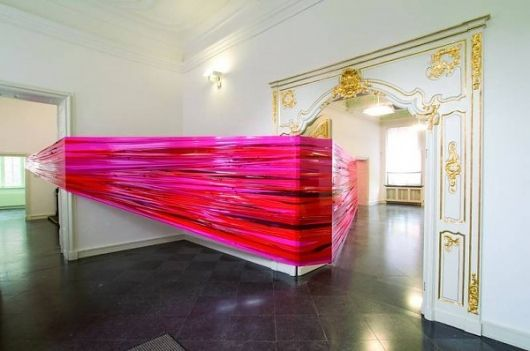 Martin Pfeifle Art Installation | TrendLand: Fashion Blog & Trend Magazine: Exhibitions Spaces, Martin Pfeifl, Shades Of Red, Art Piece, Fashion Art, Contemporary Art, Fashion Blog, Art Installations, Gallery Wall
