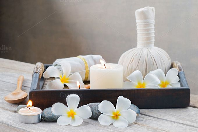 spa massage setting by ptystockphoto on @creativemarket