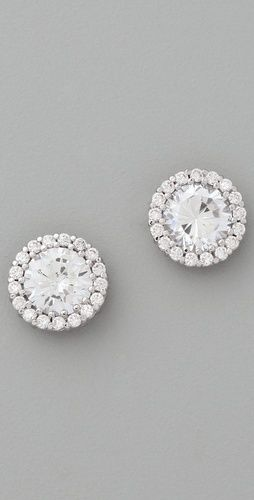 : Studs Earrings Gorge, Kenneth Jay Lane, Crystals Studs, Diamonds Earrings, Round Pave, Stud Earrings, Lane Round, Diamonds Studs Earrings, Pave Studs