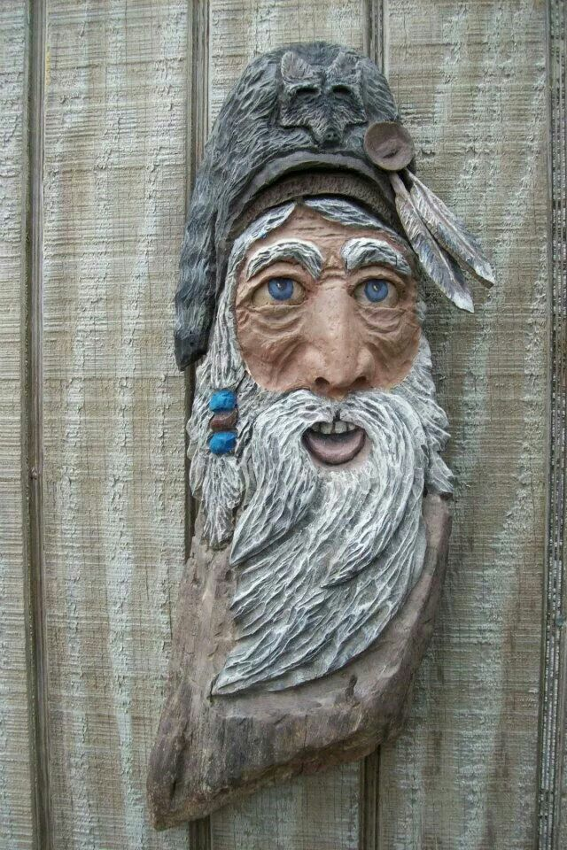 Images about faces carved in wood on pinterest