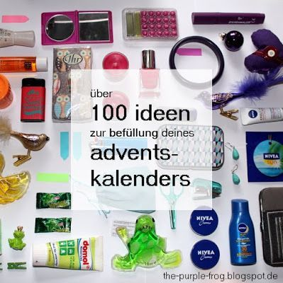 the purple frog: über 100 ideen für die befüllung deines selbstgemachten adventskalenders