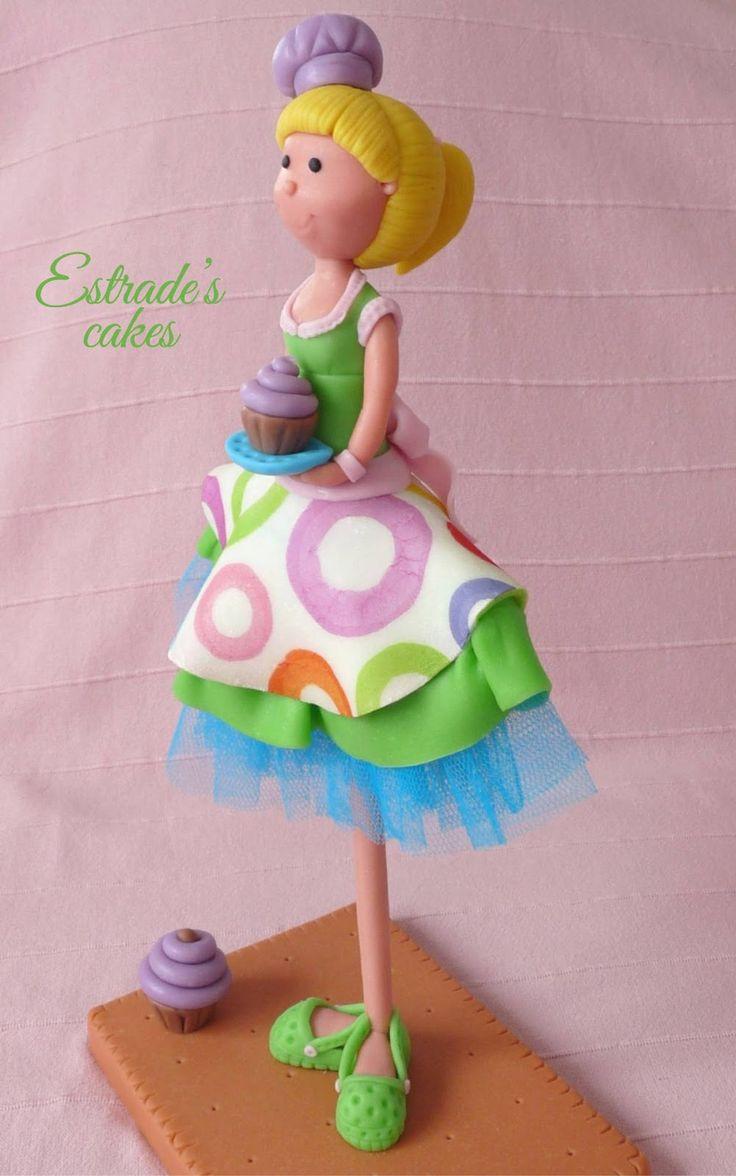 muñeca alta pastelera en porcelana fría - 5