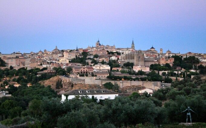 View of old city from Cigarral el Bosque, Toledo, Spain by Paula Bryce