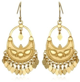 ShopStyle: Satya Jewelry Gold Plate Flower Petal Chandelier Earrings