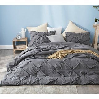 65d6da7661 Shop for BYB Granite Gray Pin Tuck Comforter. Get free shipping at  Overstock - Your Online Fashion Bedding Outlet Store! Get 5% in rewards  with Club O! - ...