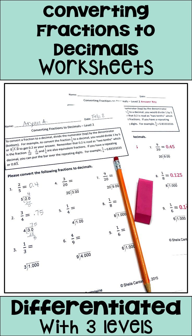 Converting Fractions To Decimals Worksheets With Printable And Digital Options Converting Fractions Decimals Fractions