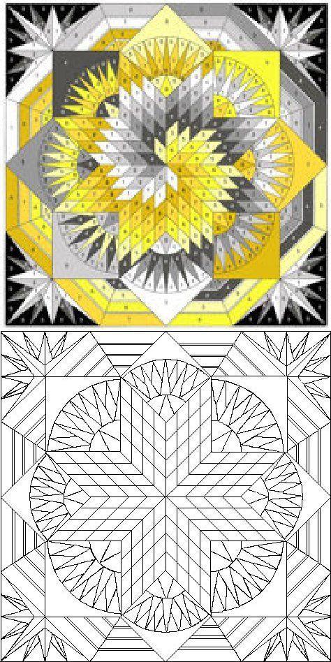 Quilt 2 - CrochetingNeedles com | Quilts | Paper pieced
