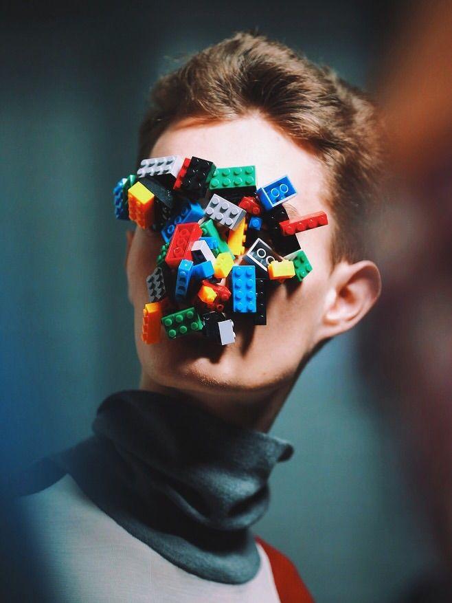 AGI & SAM AW15 Handmade Lego masks