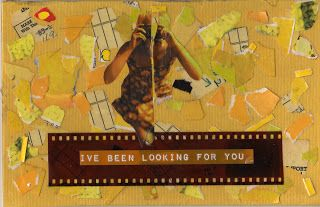 """""""shot"""" mixed media collage, by gregory a. milinovich, from the unlikely orange: collage"""