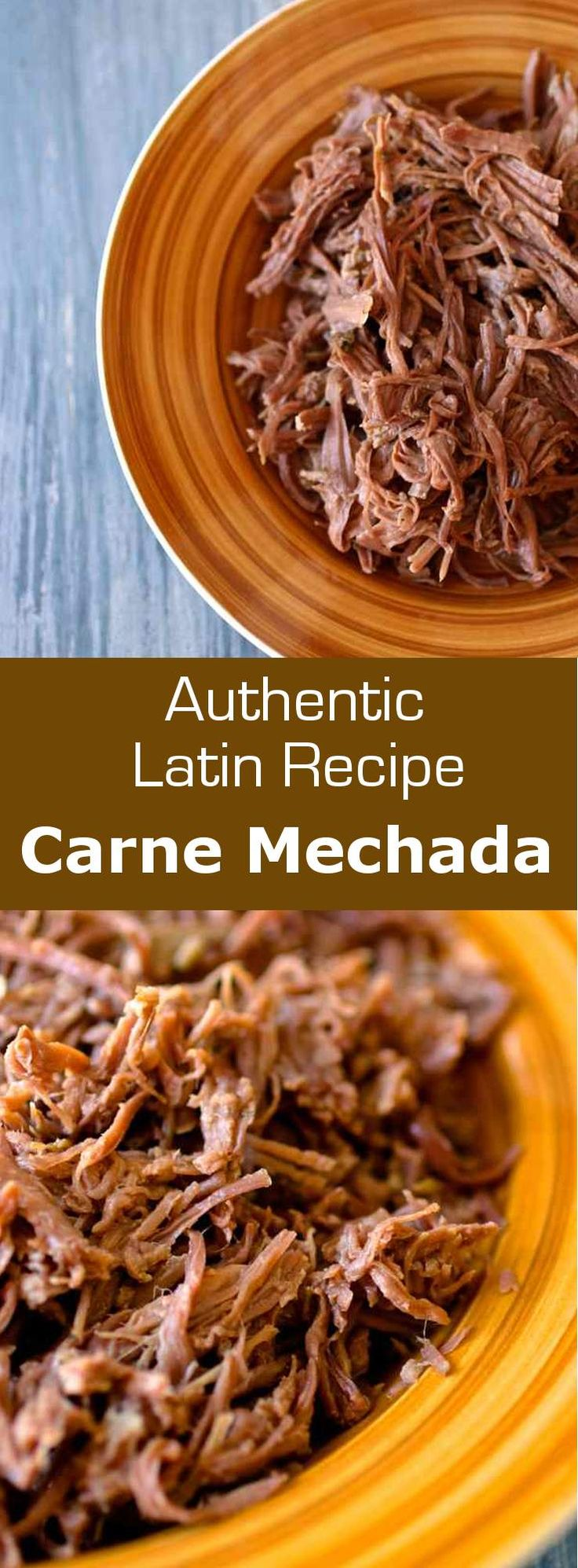 Carne mechada is shredded meat that serves as a base for a number of recipes in Latin America, including as filling for empanadas and arepas. #meat #beef #costarica #latincuisine #latin #196flavos