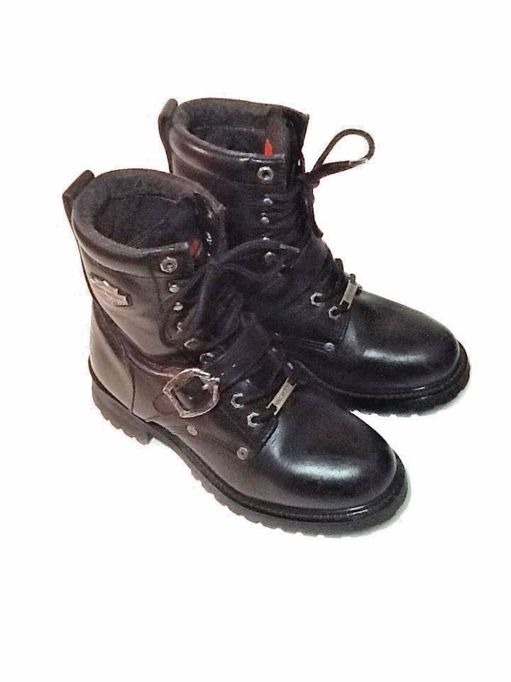 Women's Black Leather HARLEY-DAVIDSON Motorcycle Boots Size 9 M GREAT Condition #HarleyDavidson #Boot
