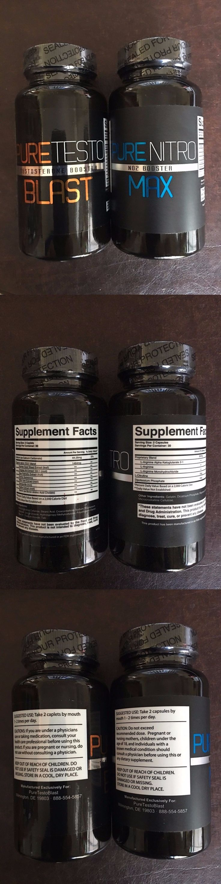 Sports Vitamins and Minerals: Pure Nitro Max No2 Booster And Testo Blast Testosterone Booster - Exp 03 2020 -New -> BUY IT NOW ONLY: $64.75 on eBay!