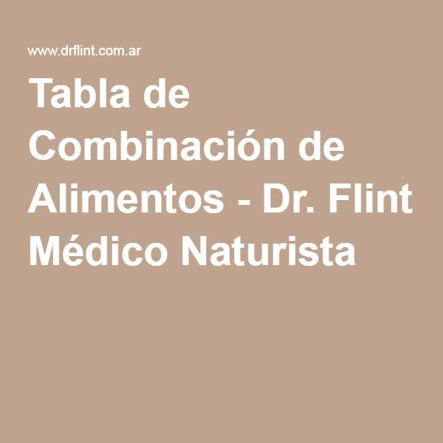 Tabla de Combinación de Alimentos - Dr. Flint Médico Naturista
