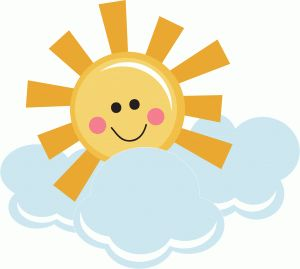 Silhouette Online Store - View Design #39527: happy sunshine with clouds